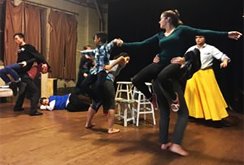 Wrinkle in Time rehearsal photo